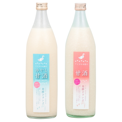 Amazake made by duck cultivation rice Koji